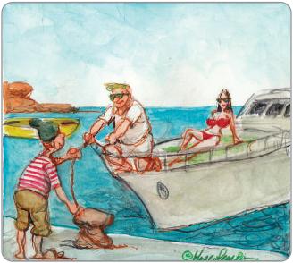 Turisti in barca