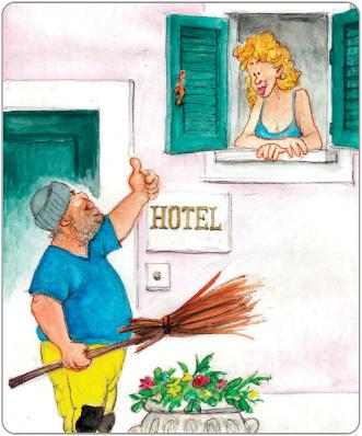 Turisti in albergo